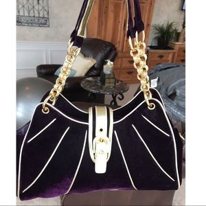 NWT Purple velvet purse with gold accents! 👛